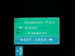 "Deadman Pass - we didn't want to go there... (Or ""Coffin Road"")"