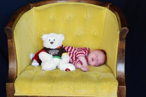 Amelia & Daddy Bear - 1 Month